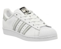 Adidas Superstar white/silver (Euro 36-40)